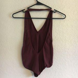 American Apparel Other - American apparel open back halter bodysuit